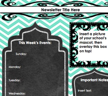 Secondary School Newsletter-turquoise