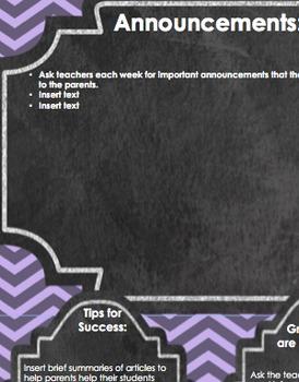 Secondary School Newsletter-purple