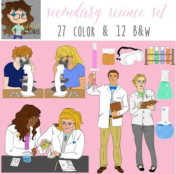 Secondary Science Illustration Set