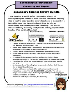 Secondary Science Safety Bundle - Physics and Chemistry