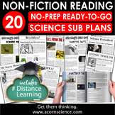Distance Learning Secondary Science Sub Plan Bundle
