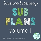 Sub Plans for Secondary Science- Science Sub Plans
