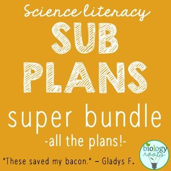 Science Sub Plans for Secondary Science - Super Bundle
