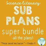 Secondary Science Literacy - Science Sub Plans - Big Bundle