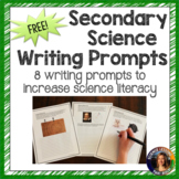 Secondary Science Writing Prompts Sampler