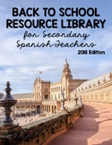 Secondary Spanish Back to School Resource Library 2018 - EBook
