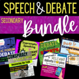 Secondary Speech & Debate Activities BUNDLE