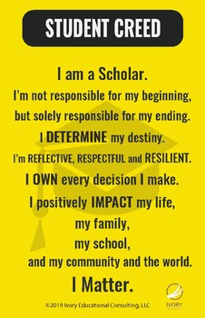 Secondary Student Creed