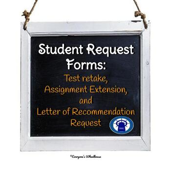 Secondary Student Request Forms