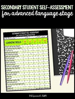 Secondary Student Self-Assessment