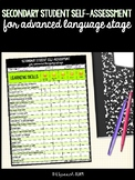 Secondary Student Self-Assessment for Advanced Language Stage