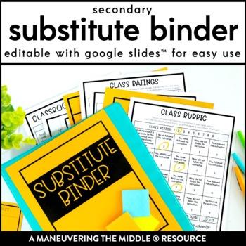 Substitute Binder - Secondary Teacher Binder for Subs
