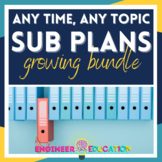 Secondary Sub Binder and Lesson Plans: Use for any topic all year long