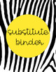 Secondary Substitute Binder - EDITABLE