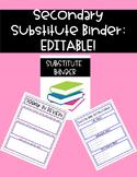 Secondary Substitute Binder - EDITABLE