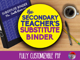 Secondary Substitute Binder - Fully Editable PDF