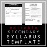 Middle School Syllabus/High School Syllabus Templates- 4 V