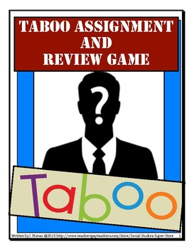 Secondary-Taboo Review Game and assignment