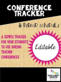 Secondary Teacher Conference Tracker