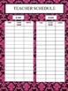 Secondary Teacher Planning Binder Hot Pink Damask