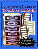 FREE EDITABLE SECONDARY TEACHER TOOLBOX LABELS