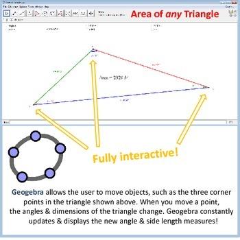 Secondary Trigonometry - Geogebra - interactive discovery exercises
