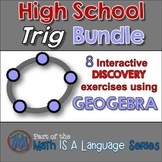 Secondary Trigonometry - Geogebra - interactive discovery