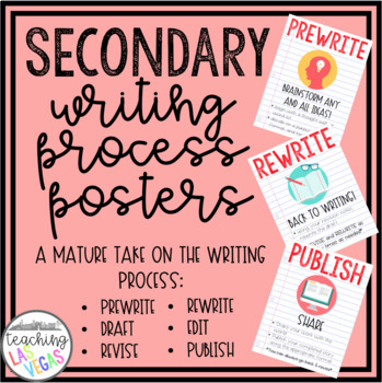 Secondary Writing Process Posters