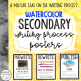 Secondary Writing Process Posters - Watercolor