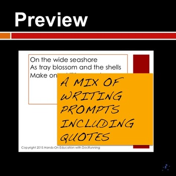 Secondary Writing Prompts FREE SAMPLE