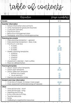 Secondary pre-service teacher planner (Custom option included)