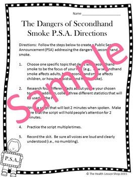 Secondhand Smoke Public Service Announcement Activity