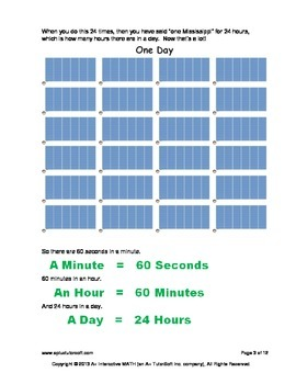 Seconds Minute and Hours (lesson and a worksheet)
