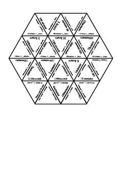 Seconds, Minutes, Hours Conversion Tarsia Puzzle