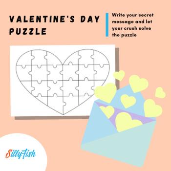 Secret Admirer Puzzle - Valentine's Day Craft