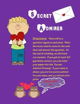 Secret Admirer-Valentine's Day Review Game!