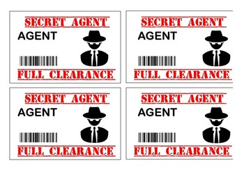 photo relating to Secret Agent Badge Printable called Mystery Representative Badges Worksheets Coaching Supplies TpT