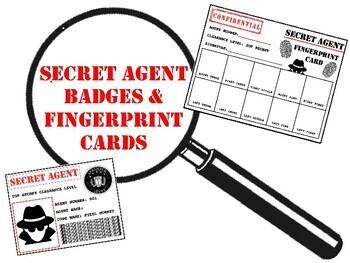 Secret Agent Badges & Fingerprint Cards