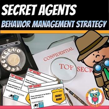 Secret Agent Behavior Management Badges