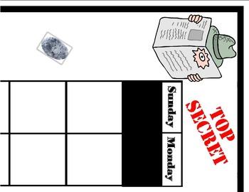 Secret Agent Calendar! Super Sleuth Calendar! Spy, Mystery Detective Theme!