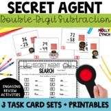 Secret Agent: Double Digit Subtraction