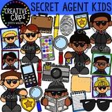 Secret Agent Kids {Creative Clips Clipart}