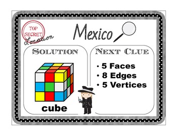 Scavenger Hunt Math- Attributes of 3D Figures