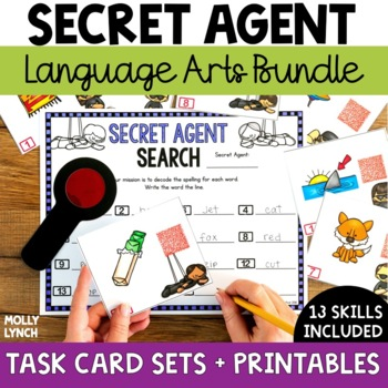 Secret Agent Language Arts Bundle