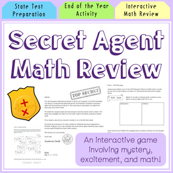 Secret Agent Math Review for State Testing!