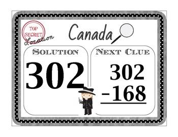 Scavenger Hunt Math - Subtraction Across 0's