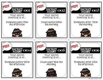 Secret Agent Mystery Time Task Cards