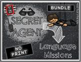 Secret Agent NO PRINT Language Missions BUNDLE