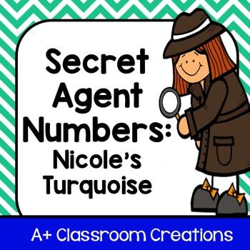 Secret Agent Numbers:  Nicole's Turquoise