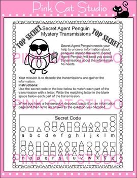 Penguins Secret Agent Mystery Transmissions Activity